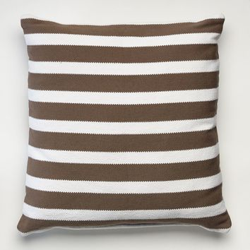 Happy Chic by Jonathan Adler Laura Striped Dhurry Throw Pillow (Grey)