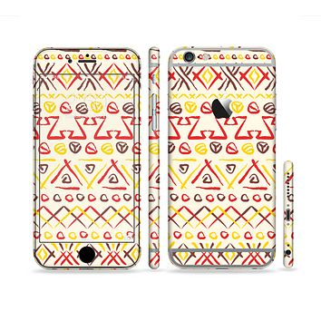 The Hand-Painted Vintage Aztek Pattern Sectioned Skin Series for the Apple iPhone 6 Plus