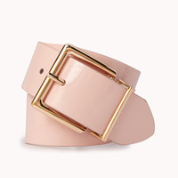 Square Faux Patent Leather Belt | FOREVER 21 - 2055733449