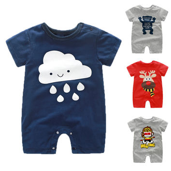 Baby Boy Rompers Summer Baby Girl Clothes Short Sleeve Toddler Baby Boy Clothing Sets Roupas Infant Newborn Baby Jumpsuits