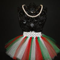 Christmas TuTu - Baby Tutu - Infant Tutu - Newborn Tutu - Tutu - Red and White Christmas Tutu - Baby Girl Tutu - Red and White Baby Tutu