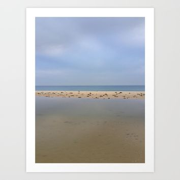 """Peace..."" Lake, sand, sea and sky... Art Print by Guido Montañés"