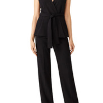 Josie by Natori Black Crepe Jumpsuit