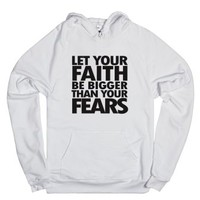 Faith and Fears-Unisex White Hoodie