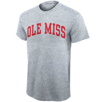 Mississippi Rebels Red Letter 1 Arch T-Shirt – Gray