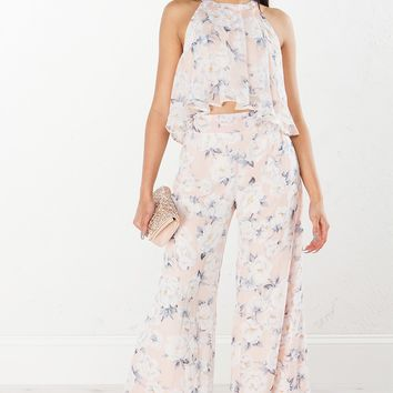 Floral Pant in Blush