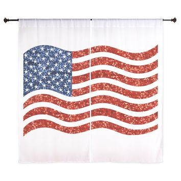 sequin american flag Curtains