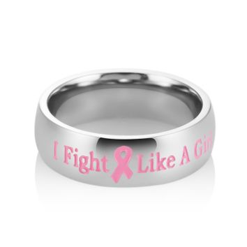 Fight Like A Girl Stainless Steel Ring