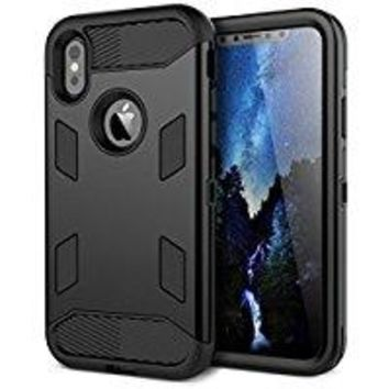 iPhone X Case, WeLoveCase [SUPER ARMOR SERIES] Heavy Duty Shock Absorption Military-Grade Rugged Hybrid Protective Case Anti-Scratch Non-slip Grip Protection Cover for iPhone X - Mint