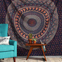Blue Hippy Hippie Wall Hanging, Elephant Mandala Tapestry Tapestries, Indian Bohemian Wall Hanging, Indian Dorm Decor, Beautiful Wall Decor