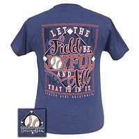 Girlie Girl Preppy Joyful Baseball T-Shirt