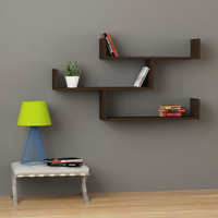 Tibet Modern  Wall  Shelf Dark Brown