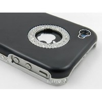 BONAMART ® Luxury Unique Best Bling Crystal Rhinestone Aluminum Case Cover For iPhone 4 4S Verizon AT&T Black