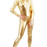 Metallic Catsuit | Wet Look Metallic Lycra Catsuit | Long Sleeved