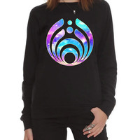 Sweatshirt custom Bassnectar logo galaxy Screenprint