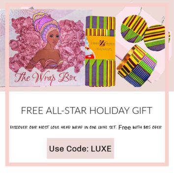 Free All Star Holiday Head Wrap And Jewelry Gift  Set