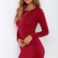 Comeback Baby Wine Red Dress