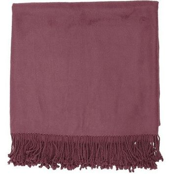 Tian Bamboo Purple Throw