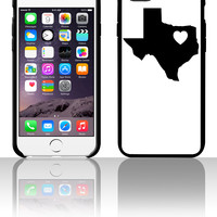 Texas Heart 5 5s 6 6plus phone cases