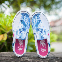"""Vans"" Casual Shoes   Blue cloud print  low tops Shoes B-CSXY"