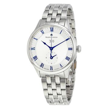Maurice Lacroix Masterpiece Tradition Date GMT Silver Dial Mens Watch