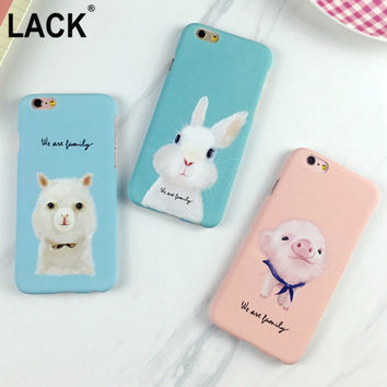 Cute Animal dog frosted Case For Iphone 5 5S 6 6S 6plus 6SPlus