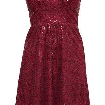 Sequin Dress - Jeane Blush - Burgundy - Party Dresses - Clothing - Women - Nelly.com