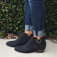 Fall On Me Booties- Black