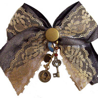 Victorian Steampunk Hair Bow Clip