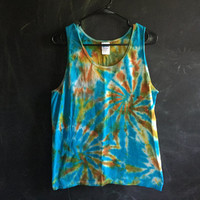 READY TO SHIP! tie dye tank - medium