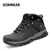 GOMNEAR Big Size Waterproof Hiking Shoes Men's Wear-resistant Antiskid Boots Breathable Mountaineering Climbing Sports Sneakers