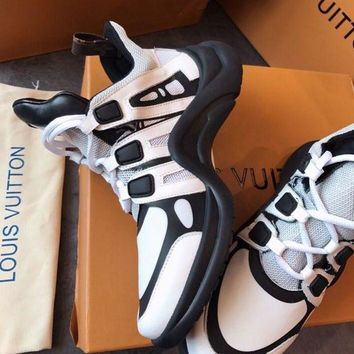 LV Louis Vuitton 2018 trendy casual fashion wild sneakers F-TFDXY-XNEDX