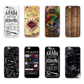 Harry Potter Marauders Map Hogwarts Friends Printing Soft TPU Silicone Phone Case Covers For Apple iPhone 5 5S SE 6 6S 7 Plus