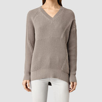 ALLSAINTS UK: Womens Meller Jumper (LUNAR GREY)