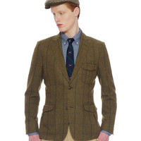 Hanson Triple Pleat Sportcoat-Moss Green