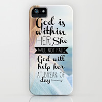 Psalm 46:5 She Will Not Fall iPhone & iPod Case by Pocket Fuel