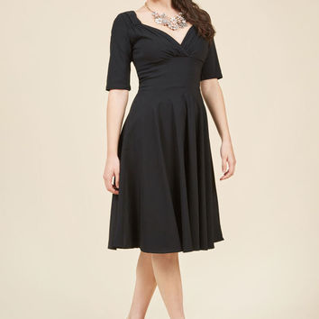 Collectif Vixen Match Midi Dress in Black