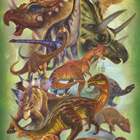 Dinosaurs Herbivores Education Poster 24x36