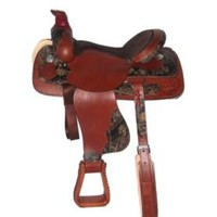 HH Saddlery Mossy Oak Camo Roper Saddle