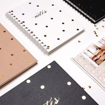 Dokibook Planner 2017 Creative Retro Homemade Coil Book School Notebook Dotted Line Grid Paper Journal Gifts Stationery