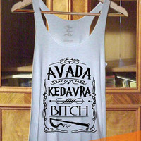 Harry Potter Spell Wizard Avada Kedavra  Tank top, T shirt, T shirt Girl, Tank top Ladies, Tank top Mens in TanktopUs