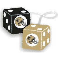 New Orleans Saints NFL 3 Car Fuzzy Dice