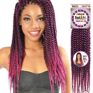 "Rast A Fri Imani Jumbo Twist 20"" Single Loop Synthetic Crochet Braid Hair"