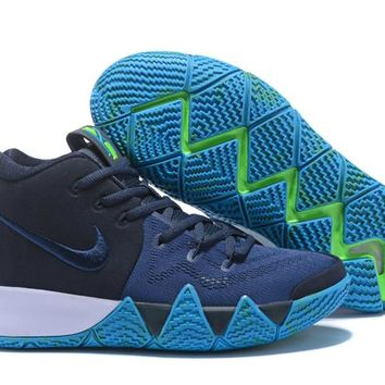 Nike Kyrie Irving 4 Navy/Jade Sport Shoes US7-12