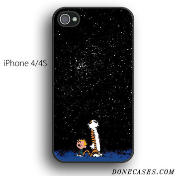 calvin and hobbes star moon case for iPhone 4[S]