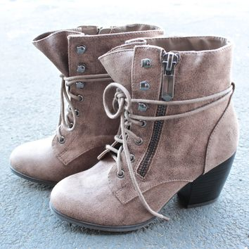 high road suede heel ankle boot - more colors