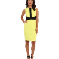 Calvin Klein Colorblock Lux Sheath Dress