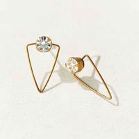 Diament Jewelry X Urban Renewal Crystal Wire Triangle Stud Earring