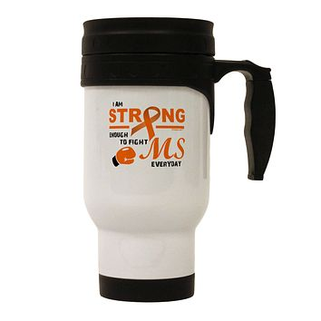 MS - I Am Strong Stainless Steel 14oz Travel Mug