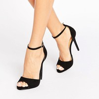 Public Desire Saydee Ankle Strap Black Heeled Sandals at asos.com